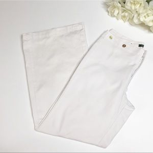 Lauren Ralph White Wide Leg Pants size 6